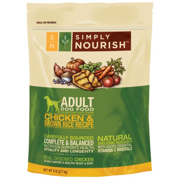 Simply Nourish Dog Food Chicken And Brown Rice