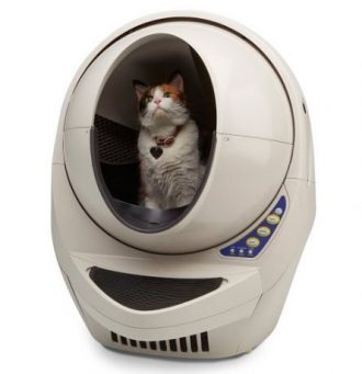 cat in litter robot