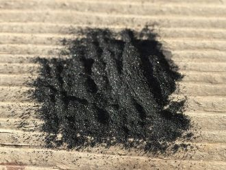 black crushed coal