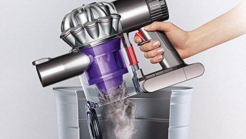 vacuum dust into bin