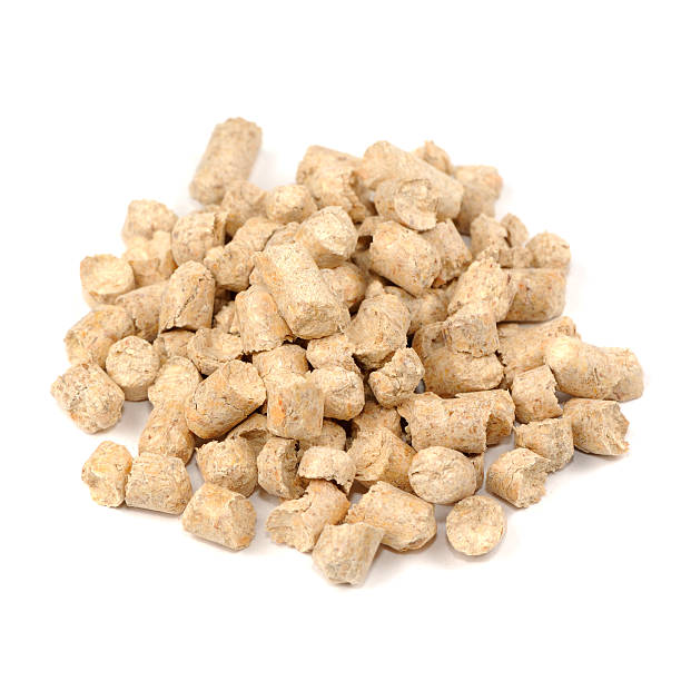Wood Pellet Cat Litter Close up